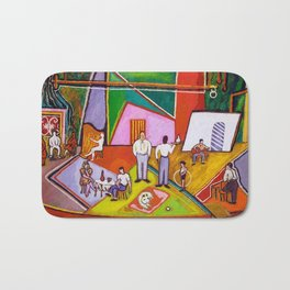 African American Masterpiece 'The Time of Your Life' by Beauford Delaney Bath Mat