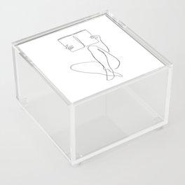 Reading Naked n.2 Acrylic Box