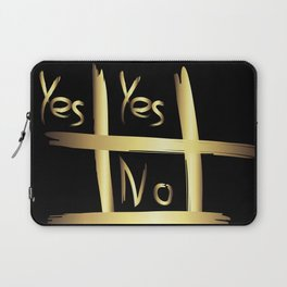 Tic Tac Toe - Yes or No Laptop Sleeve