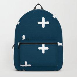White Crosses on Deep Teal Backpack