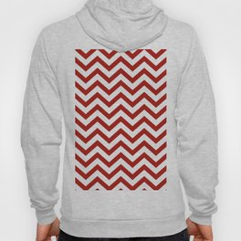 Simple Chevron Pattern - Red & White - Mix & Match with Simplicity of life Hoody