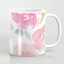Muted Floral Watercolor Design  Coffee Mug