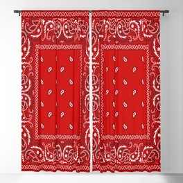 Paisley - Bandana - Red - Southwestern - Boho Blackout Curtain