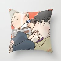 221b Throw Pillows featuring 221B by Negative Dragon