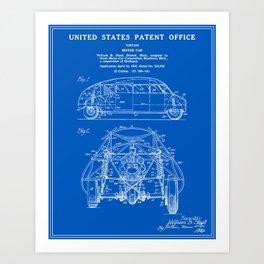 Blueprint art prints society6 motor car patent blueprint art print malvernweather Choice Image