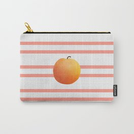 Ruston Peach Rugby Stripe Carry-All Pouch