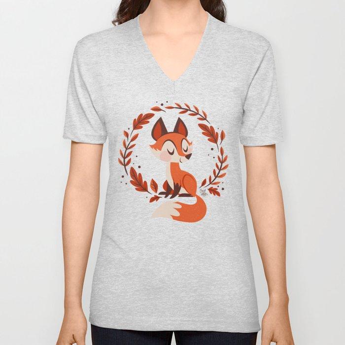 Cute Foxes Unisex V-Ausschnitt