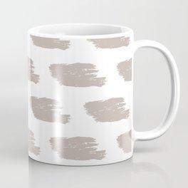 Oatmeal & White Watercolor Stripes Coffee Mug