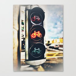 Bicycle Traffic Lights Canvas Print