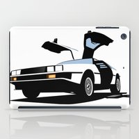 delorean iPad Cases featuring Delorean - Ghost Image 1 by Geoff Ombao Car Art
