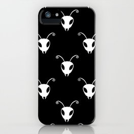 Bug Heads Insect Pattern Black and White iPhone Case