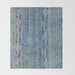 Ndop Cameroon West African Textile Print Throw Blanket