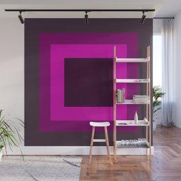 Dark Purple Square Design Wall Mural