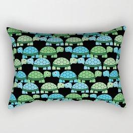 Turtle Pattern (Black/Blue/Green) Rectangular Pillow