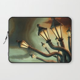 Drunk Streetlamps Laptop Sleeve