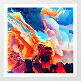 Iṓb (Abstract 09) Art Print