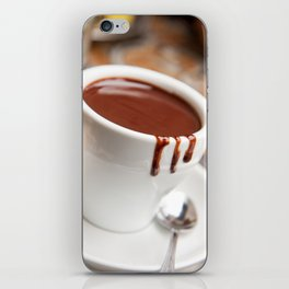 hot milk chocolate and ginger cookie iPhone Skin