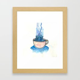 Space, tea, ocean Framed Art Print