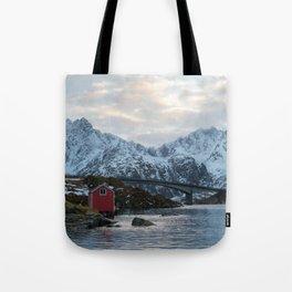 Lofoten winter Tote Bag