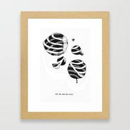 See Me From The Inside Framed Art Print
