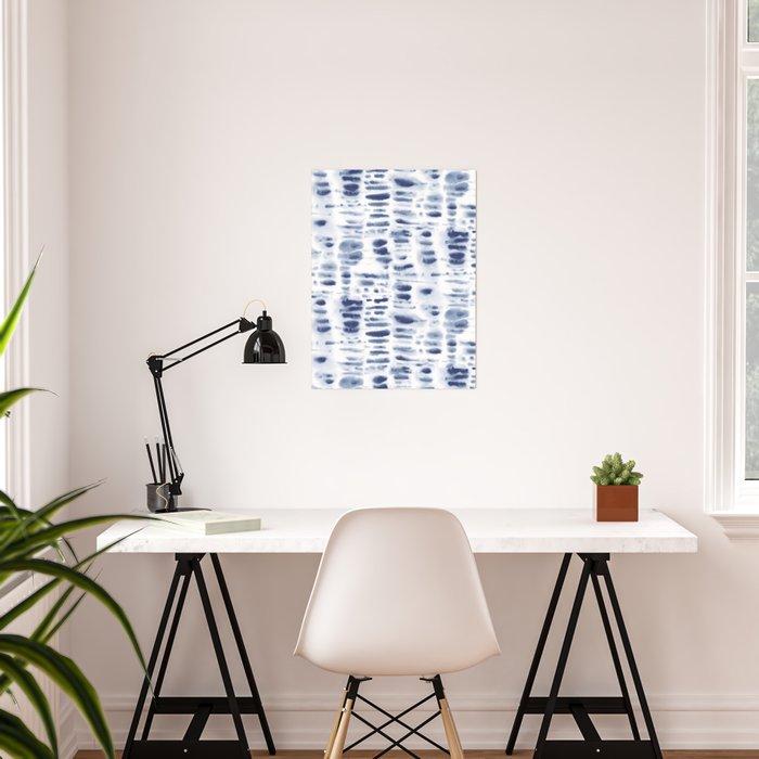 Dye Dash Bismark Blue Poster