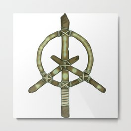 Hope, love and happiness talisman Metal Print
