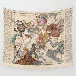 Ignace-Gaston Pardies - Globi coelestisPlate 3: Gemini, Orion, Taurus and other constellations 1693 Wall Tapestry