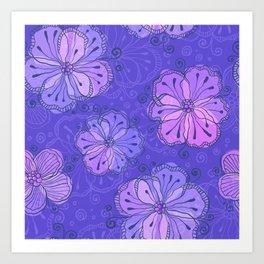 Violet flowers Art Print