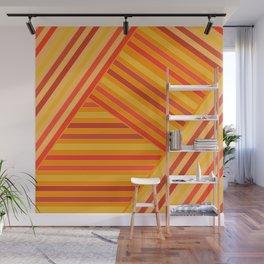 Orange - yellow stripes Wall Mural