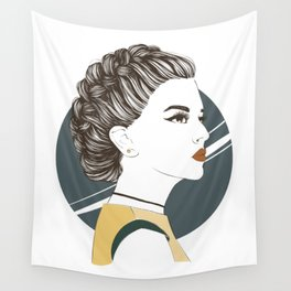 Zodiac: Illustration of Capricorn zodiac sign as a beautiful girl. Wall Tapestry