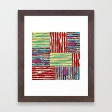 Painterly Corrugated Cardboard Framed Art Print