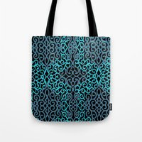 celtic Tote Bags featuring celtic blue by Ariadne