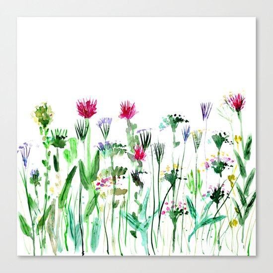 Summer    watercolor Canvas Print