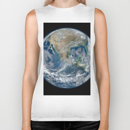 North America from Space Biker Tank