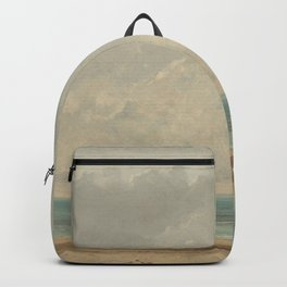Gustave Courbet Calm Sea 1866 Painting Backpack