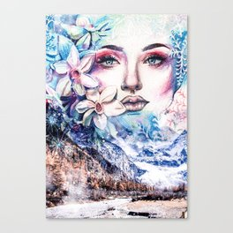 Face of the winter Canvas Print