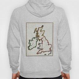 Vintage Map of The British Isles (1860) Hoody