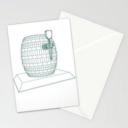 beer keg Stationery Cards
