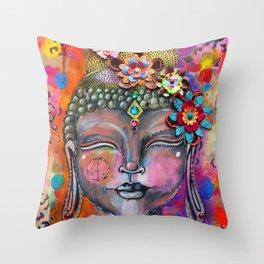 Good Vibes Buddha Throw Pillow