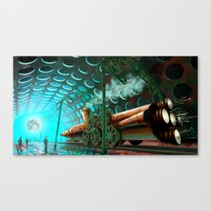 Steam Train Punk Canvas Print