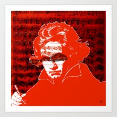 Ludwig van Beethoven · red10 Art Print