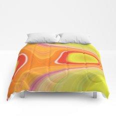 Kinky Sablo Lio ~ Orange & Lime Green Comforters
