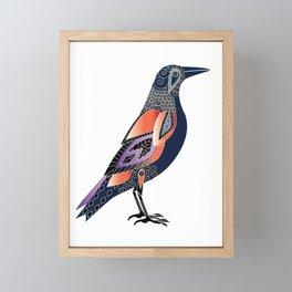 Exotic tropical graphic bird Framed Mini Art Print