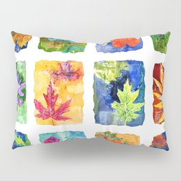 Colorful Summer Leaves Pillow Sham