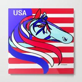 """""""Patriotic Horse"""" Metal Print"""