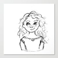 merida Canvas Prints featuring Merida by rapunzette