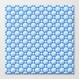 Blue marbles Canvas Print
