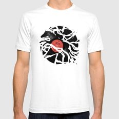 Disc Jockey SMALL White Mens Fitted Tee
