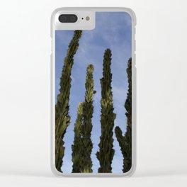 Cactus Reaching Clear iPhone Case
