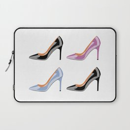 High heel shoes in black, serenity blue and bodacious pink Laptop Sleeve